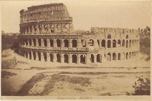 Colosseo-Roma-Roma-Italia-Foto-Vintage-Albumina-ca-1880