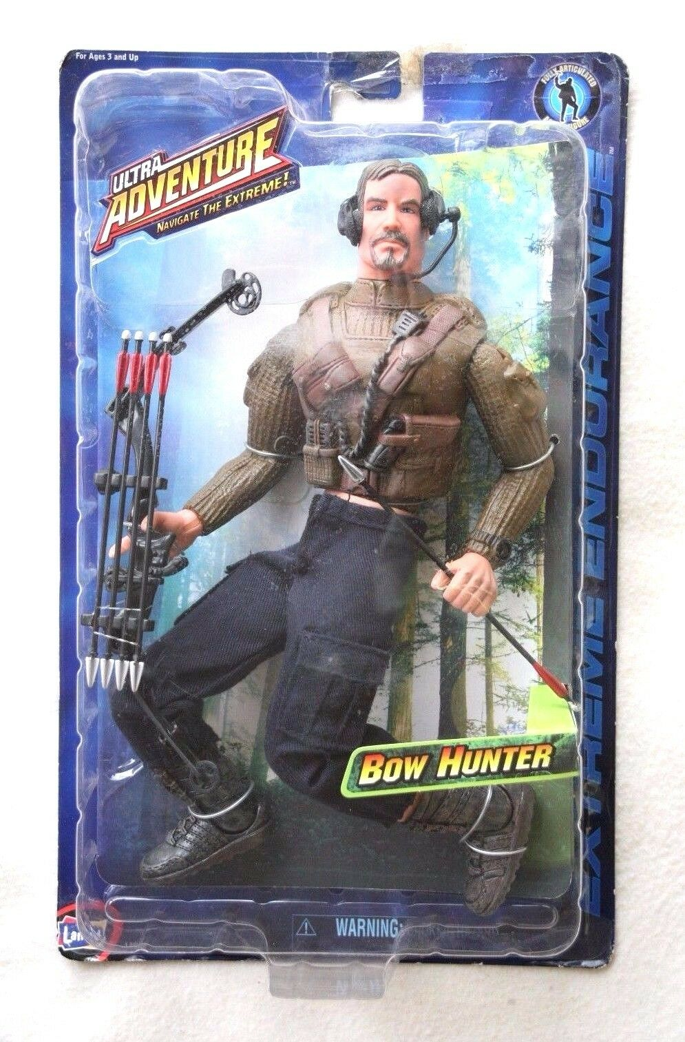 ULTRA ADVENTURE ACTION FIGURE  BOW HUNTER (NO G.I.JOE. LANARD). BNIB, OS