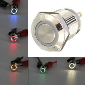 12V-16-19-22-mm-interruptor-de-boton-momentaneo-impermeable-LED-Power-Metal