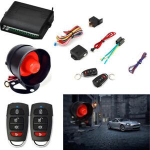 Car-Vehicle-Alarm-Protection-Burglar-System-Keyless-Entry-Siren-2-Remote-Control