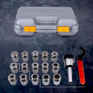 ER32-Collet-Chuck-Set-MT2-Shank-Handle-Holder-Llave-Caja-para-Fresadora