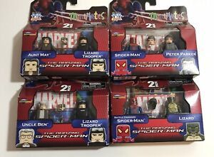 LOT-OF-4-Minimates-THE-AMAZING-SPIDER-MAN-8-TOTAL-FIGURE-COMPLETE-SET