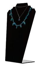 Slantback Necklace Holder Display Jewelry Stand Black Acrylic