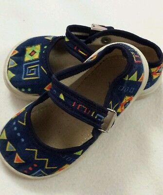 Bebé Niño Niña Zapatos Lona Talla 4 EUR 21 Azul Marino Oscuro