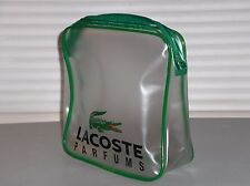 LACOSTE Parfums, Toiletry Bag, Clear Cosmetic, Pouch, Travel, Gym, Big Croc, NEW