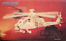 Jeux bois Enfant Puzzle Construction Maquette Bois Hélicoptère APACHE