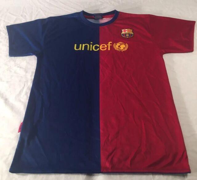 Fc Barcelona Soccer Jersey Unicef 5 Puyol Youth Size 14 Red Blue Ebay