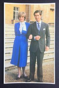 Image Is Loading PRINCESS DIANA Prince Charles POSTCARD Engagement ROYAL WEDDING