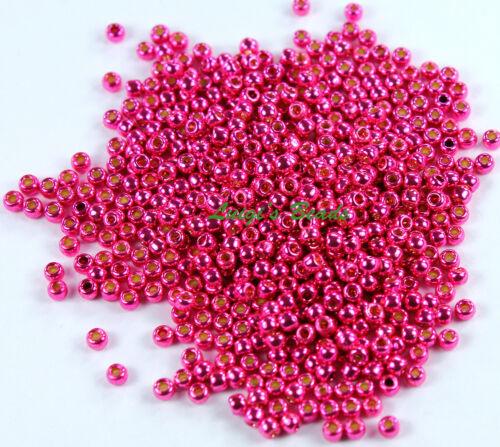 11//0 Round Toho Glass Seed Beads #PF563-Permanent Finish Galvanized Orchid 10g