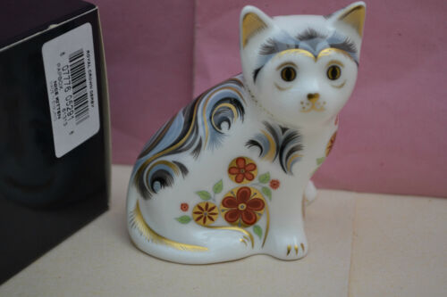 "Royal Crown Derby Paperweight ""NICE"" The Kitten 1st Quality & Original Box"