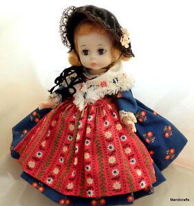 Madame Alexander Doll Wendy Ann Face Germany Dress Bent Knee Hard Plastic Vtg