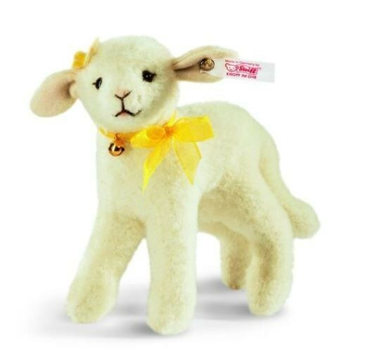 STEIFF  LILLY LAMB    EAN 034473 bianca  WOOL PLUSH, STANDING, JOINTED, LIM ED 855eeb