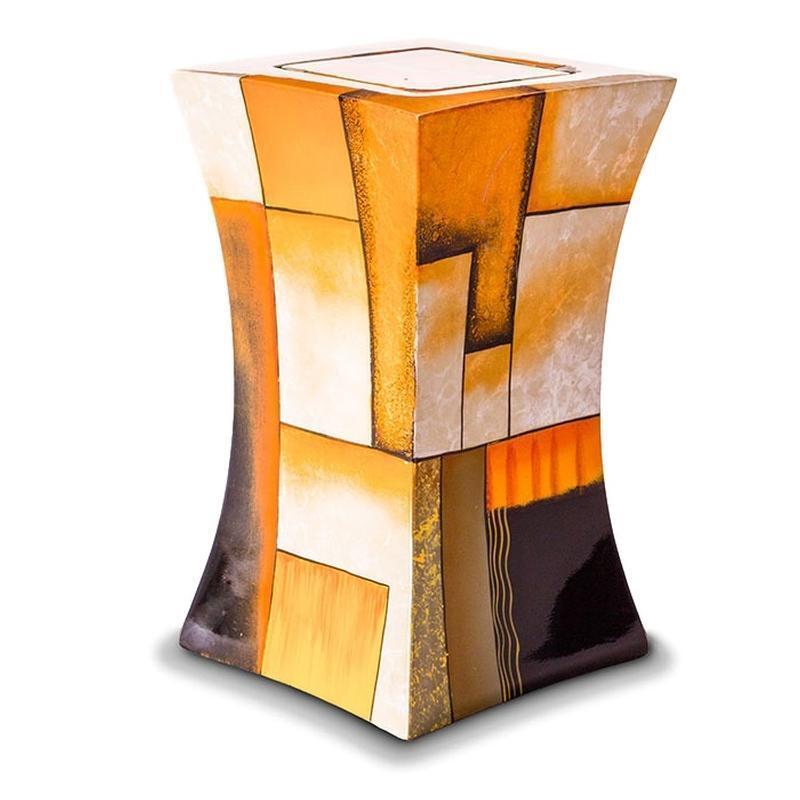 Fibre de verre Crémation Cendres Cendres Crémation Urne-Lanterne design en Multicolore Jaune 6ac2f9