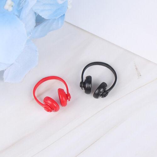 2Pcs 1:12 Dollhouse Miniature Plastic Wireless Headphone Doll House Decor I2