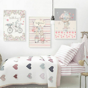 Details about Bedroom Wall Paintings Lovely Canvas Posters Unframed  Pictures Minimalist Style