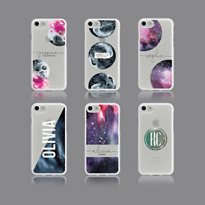 meet 05fff dc234 Details about MOON SPACE CONSTELLATIONS PERSONALISED NAME SOFT PHONE CASE  FOR IPHONE SAMSUNG