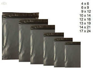 GREY-MAILING-BAGS-PLASTIC-POLY-POSTAGE-POST-PACKAGING-PACK-SELF-SEAL-50MU
