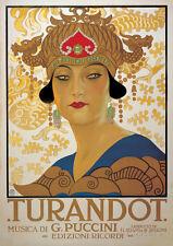 Turandot (G. Puccini) - Vintage Style Italian Opera Poster - 20x28