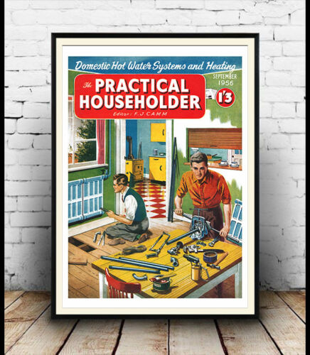Practical Householder Vintage magazine cover poster reproduction.