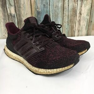 famous brand on sale picked up Details about Adidas UltraBoost 3.0 S80732 Men's Size 8.5 Deep Burgundy  Lace Up Running Shoes