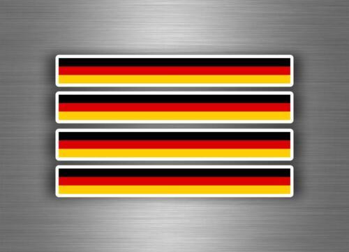 4x Autocollant sticker voiture moto stripes drapeau tuning allemagne allemand