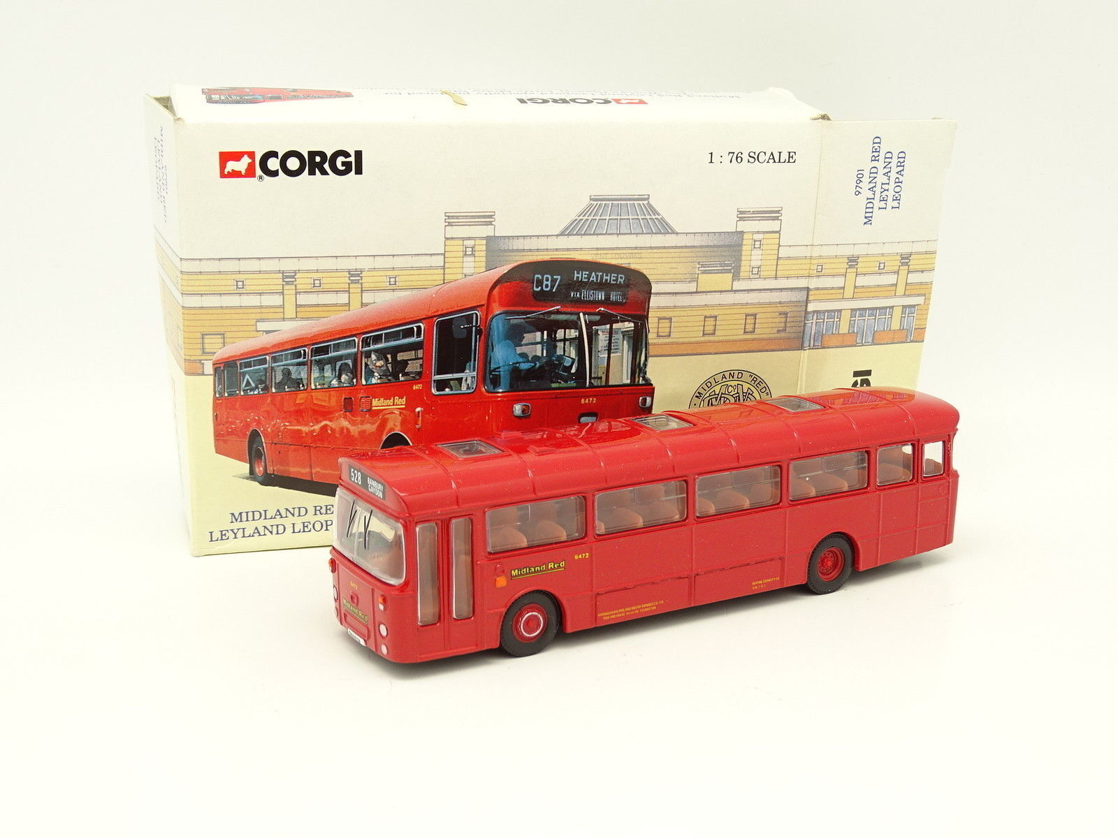 Corgi 1 76 - Bus Bus Car Midland Red Leyland Leopard