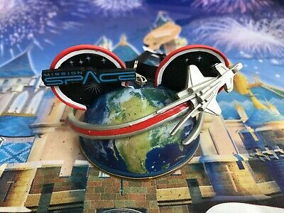 Disney Parks Epcot Mission Space Mickey Ears Hat Christmas Ornament New
