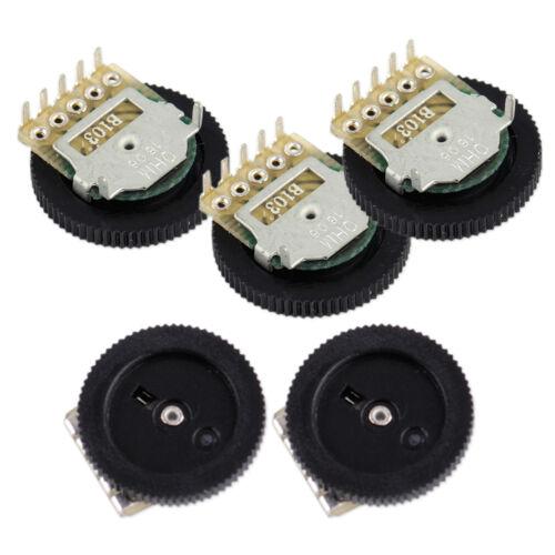 5Pcs B103 16x2mm 10K Ohm Double Dial Taper Volume Wheel Duplex Potentiometer