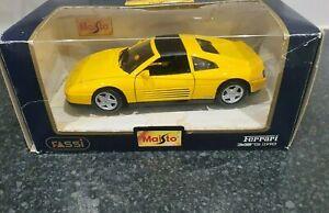 Muy-raras-Amarillo-1-24-Ferrari-348-TS-1990-Edicion-Especial-De-Maisto