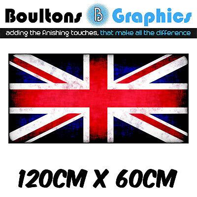 LARGE UNION JACK Vinyl Decal Sticker Camper Van Motorhome Caravan Wall 01