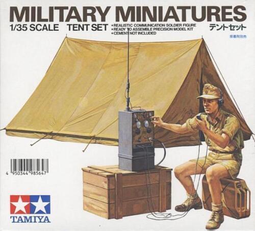 Tamiya 1//35 Tent Set w// Afrika Korps Radio Operator # 35074