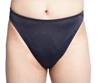 Gaff Panty With Full Back For Crossdressing Men Black