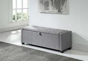 Remarkable Details About Verona Ottoman Storage Blanket Box Hopsack Fabric Seat Bench Foot Stool Grey Ibusinesslaw Wood Chair Design Ideas Ibusinesslaworg