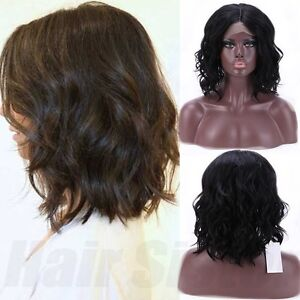 Lace Front Wig Loose Body Wave BOB Hairstyle Natural Black Synthetic ...