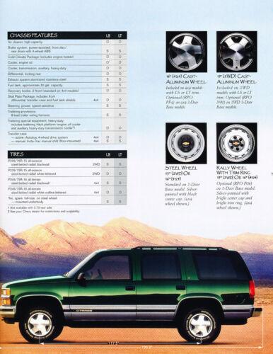 1999 Chevrolet Chevy Tahoe 40-page Original Car Sales Brochure Catalog