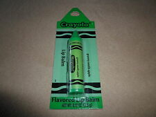.12 Oz. Crayola Granny Smith Apple Flavored Lip Balm Crayon, NEW IN PACKAGE!!