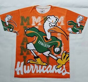 ad15ec509e4 Image is loading Custom-Miami-Hurricanes-T-shirt-sublimation-college- football-