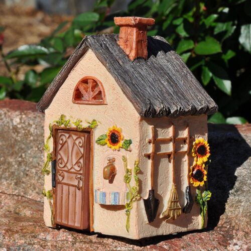 "* Fairy Workshop Miniature Fairy Gnome Garden House 5.5/"" Tall"