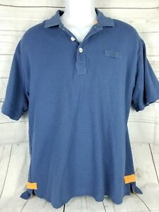 ORVIS-Mens-Size-L-Large-Short-Sleeve-Fly-Fishing-Polo-Shirt-Blue-Cotton