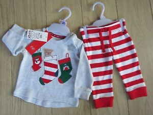 *LAST ONE*  Baby Boys 2 Piece Christmas Set Jumper//Trousers Size 0-3 Months BNWT