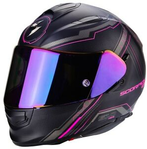 Scorpion-Exo-510-Air-Sync-Casque-de-Moto-Integral-Noir-Mat-Rouge-Rose-Bleu