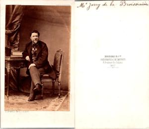 CDV-Disderi-Paris-Homme-nomme-M-Jarry-de-la-Broissiniere-circa-1860-Vintage