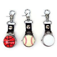 Big Clip Sport Fan Ball Cover Pocket Watch
