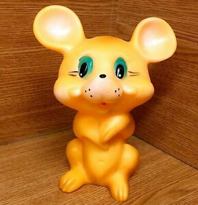 Original-Vintage-Soviet-Russian-Rubber-Toy-Doll-LITTLE-MOUSE-Made-in-USSR