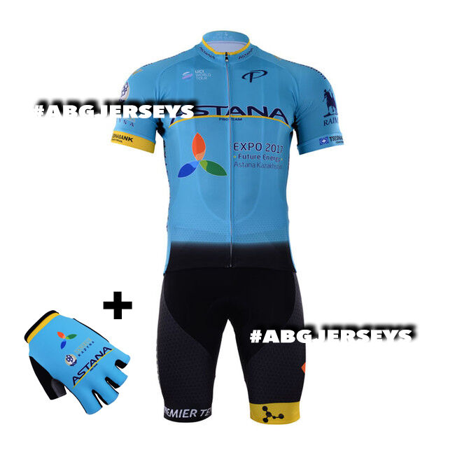 NEW 2017 ASTANA JERSEY BIB HOBBY SET KIT CYCLING TOUR DE FRANCE FUGLSANG VALGREN