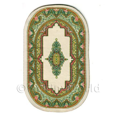 vcnso 02 Casa de muñecas en miniatura de alfombra//alfombra pequeña Victoriano Oval
