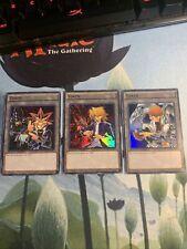 3 Card Token Set Yami Yugi Seto Kaiba Joey Wheeler Ultra Rare LDK2 Yu-Gi-Oh!