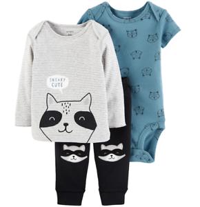 971ef9b8c NWT Carters Baby Boy 3-Piece Bodysuit, Shirt & Pants Set Raccoon ...