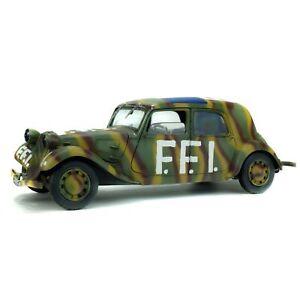 SOLIDO-CITROEN-TRACTION-11cv-FFI-1944-voiture-miniature-voiture-miniature-RESISTANCE-1-18