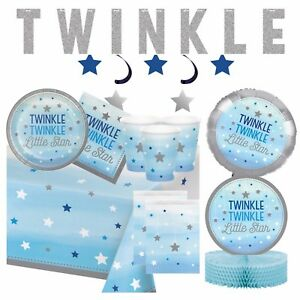 Le Little Star Blue Baby Shower Party Supplies